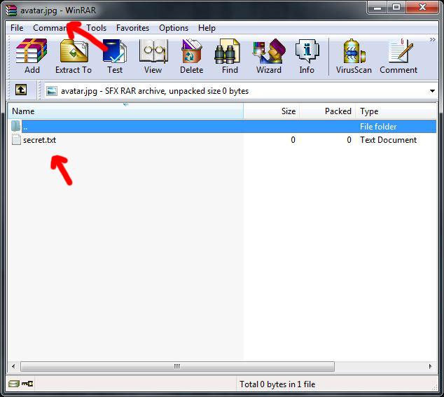 File Concealer result image