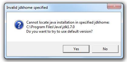 NetBeans invalid jdkhome error