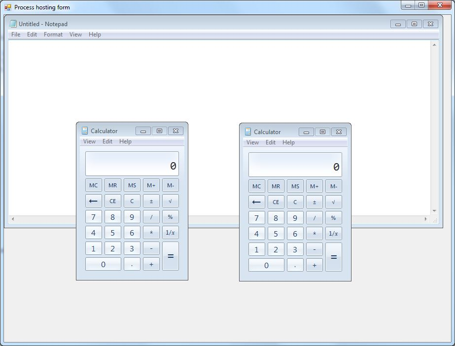 Process SetParent example