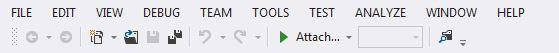 Visual Studio 2012 menu all caps
