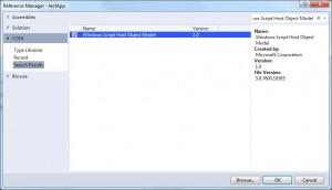 Windows Script Host Object Model add reference