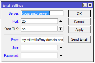 mikrotik smtp settings